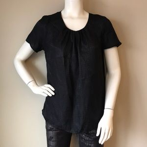 Black womans half sleeve top size M